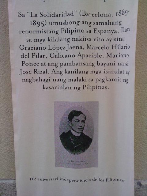 ng pagkilala sa naging kontribusyon ng mga bumubuo ng La Solidaridad