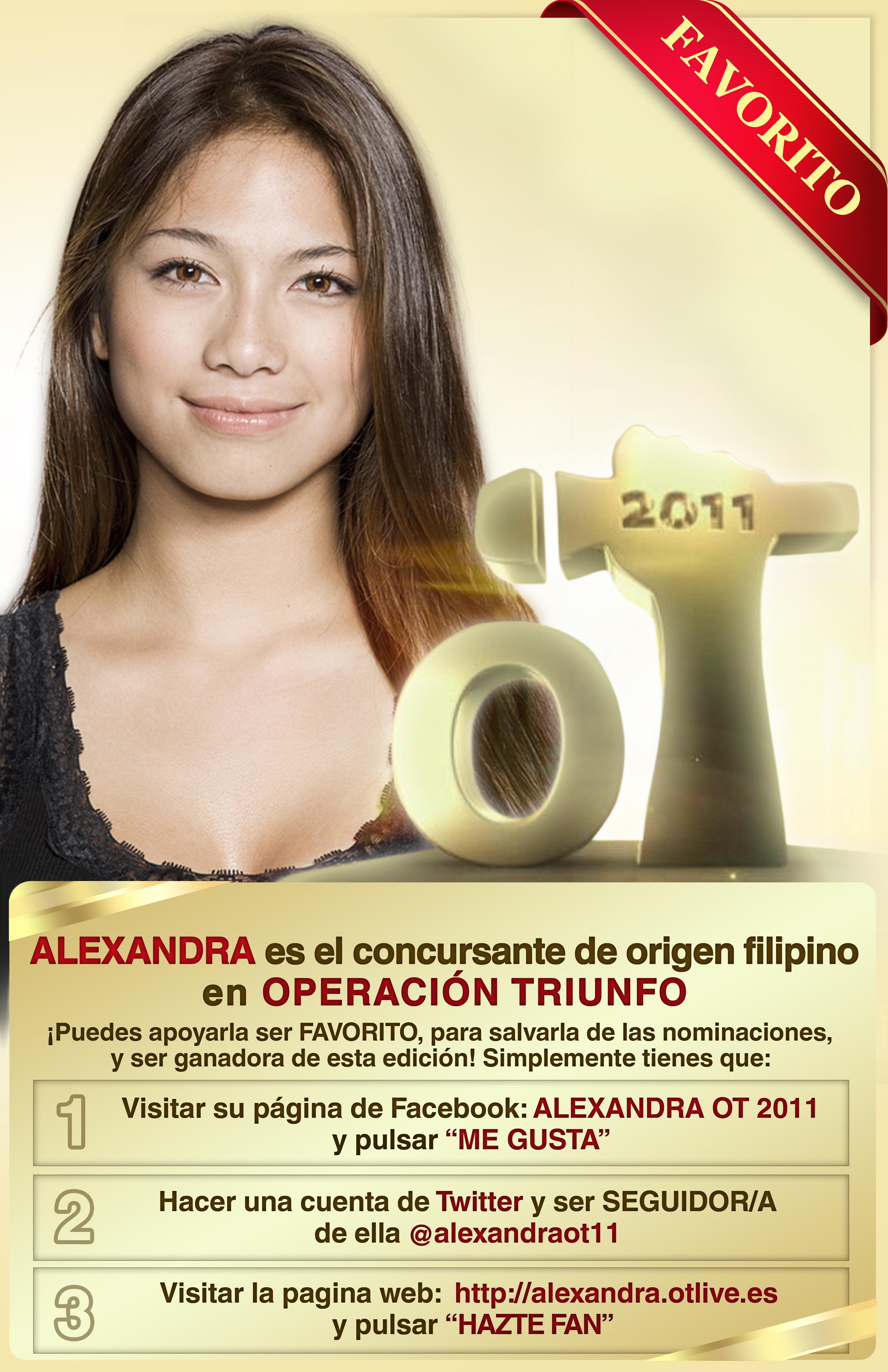 Alexandra operacion triunfo filipina dating